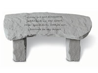 Shop Stone Bench - Gone yet not forgotten... - 54 LBS - 29 x 12 x 14.5