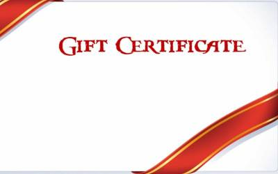 Shop Gift Certificates - $35 Gift Certificate