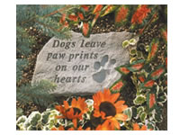 Shop Garden Stone - Dogs leave paw prints on our hearts - 5 LBS - 14.5 X 9.5