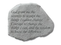 Shop Garden Stone - God grant me the serenity to accept... - 10 LBS - 15.5 x 11.5