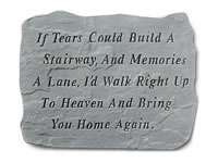 Shop Garden Stone - If tears could build a stairway ... - 18 LBS - 18.5 x 12.25