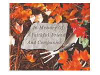 Shop Garden Stone - In memory of A faithful friend and companion - 5 LBS - 14.5 X 9.5
