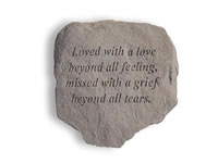 Shop Garden Stone - Loved with a love beyond all... - 6 LBS - 11 x 10