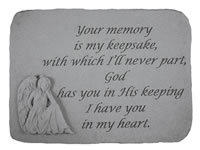 Shop Garden Stone - Your memory is my keepsake... - 8.5 LBS - 15.25 x 10.5