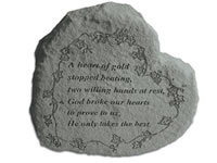 Shop Garden Stone - A heart of gold stopped beating... - 4 LBS - 8.5 X 7
